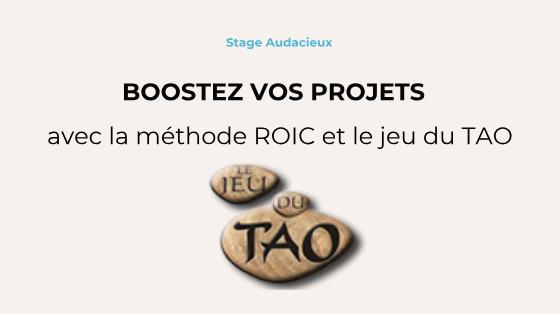 Boostez vos projets avec le TAO et la méthode ROIC