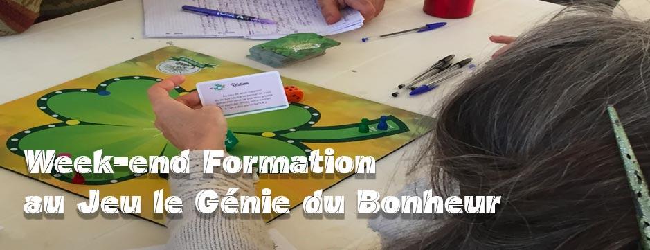 Paris : 24-25-26 Septembre Formation au jeu Le Génie du Bonheur